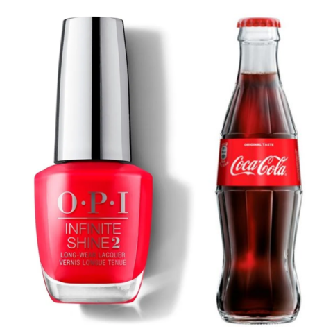 OPI Infinite Shine 2: Esmalte Opi de Larga Duracion (15 ml) | 5 Colores (Coca-Cola Red, Black Onyx, Taupe-less Beach, Malaga Wine, Tickle My France-y)