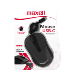 Mouse Optico Retractil Tipo C Maxell MOWR-C