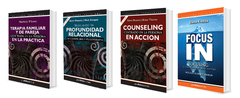 Combo 4: Terapia Familiar Y De Pareja + Profundidad Relacional + Counseling En Acción + Focus In