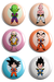 Cartela de Botons -  Dragon Ball