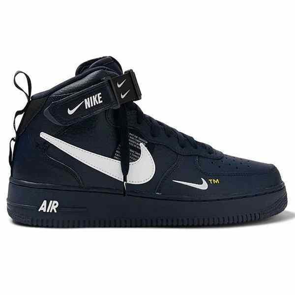 Engreído Conquistador lavar  Boot Nike Masculina Air Force Cano Alto Bota Preta e Branca