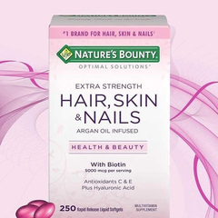 Hair Skin And Nails 250 Softgels Nature's Bounty 5000mcg - comprar online