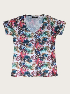 REMERA JUNGLE CUELLO V PREPPY WOMAN (PMAR844)