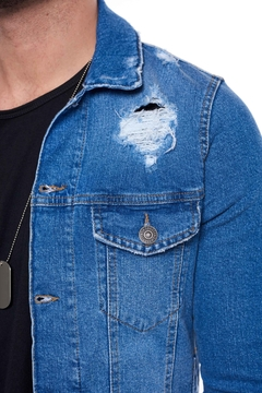 Campera Soft Blue Rip en internet