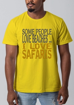 CAMISETA ASCULINA I LOVE SAFARI na internet