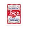 BEE NAIPES POKER JUMBO ROJO