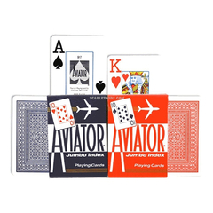 AVIATOR NAIPES POKER JUMBO ROJO en internet