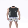 Pijama regata e shorts na internet