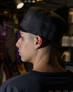 BONÉ ABA RETA NEST PANOS SNAP-BACK ALL BLACK - NESB010 - comprar online