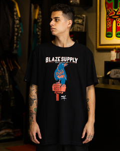 CAMISETA BLAZE SUPPLY BADAUI CROW BLACK - BLZ0315