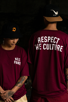 CAMISETA NEST PANOS RESPECT THE CULTURE VINHO - NEca008 - comprar online