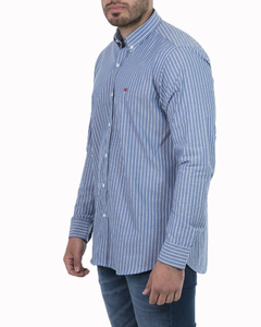 Camisa Camisa Boris Stripe Regular ML - Código 35023-4