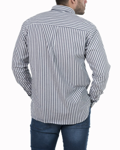 Camisa Camisa Boris Stripe Regular ML - Código 35023-5 - Mistral