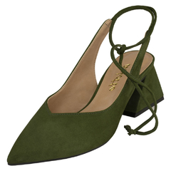 Scarpin Delotto Lace-up Couro Nobuck Militar na internet