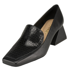 Scarpin Delotto Slipper Couro Naturalle Preto na internet
