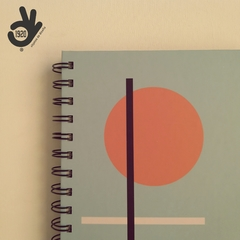 Agenda Bauhaus Tapa Dura Ring Wire/ Modelo 6: ORANGE CIRCLE - tienda online