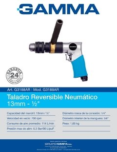 Taladro Reversible Neumatico 13mm 700rpm Gamma - comprar online