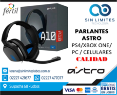 AURICULARES GAMERS ASTRO A10 White y Blue PC/PC4