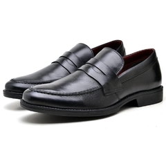 Loafer Lord Byron Casual  Couro Cor: Preto 9400 - comprar online