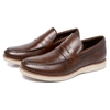 Loafer Lord Byron Casual Couro Cor: Marrom 9400