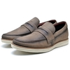 Loafer Lord Byron Casual Couro Rustico Cor:  Cappuccino  9400 - comprar online