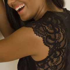 Body de Renda - Preto - Acidez Feminina