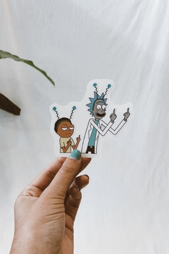 STICKER RICK Y MORTY ANTENAS
