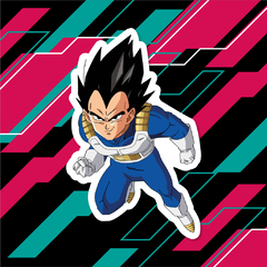 Sticker Dragon Ball Z - Vegeta