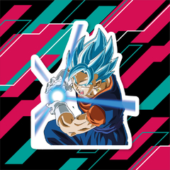 Sticker Dragon Ball Super - Vegetto SSJ Blue
