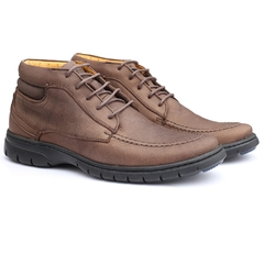 Sapato Boot Masculino Full Relax Francajel Cafe em Couro - 3926