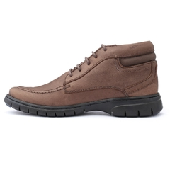 Sapato Boot Masculino Full Relax Francajel Cafe em Couro - 3926 na internet
