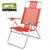 SILLA PLAYERA PLEGABLE 120 KG ROJA BEACHCHAIR