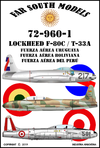 Far South Models 1/72 72-960-1 Lockeed F-80c / T-33a