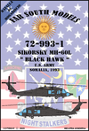 Far South Models 1/72 72-993-1 Sikorsky Mh-60l Black Hawk