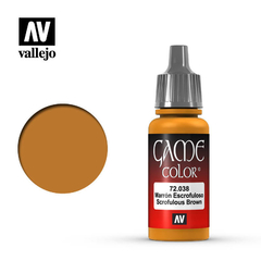 Vallejo Game Color 72038 Marron Escrofuloso/scrofulous Brown