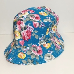 Bucket Hat Azul Floral