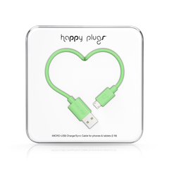 Cable Micro-USB Happy Plugs 2.0 Varios colores - LUMINATEC.COM