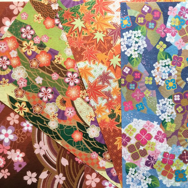 Washi Chiyogami - Four Seasons - comprar online