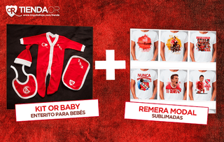 Kit OR Baby Personalizado + Remera modal sublimada