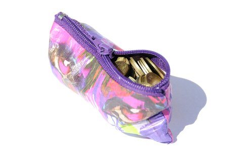 Purse for Coins by Monkey Wallets® - Kiss