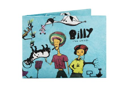 Carteira de papel Tyvek® - by Monkey Wallets® - Billy the Weed - comprar online