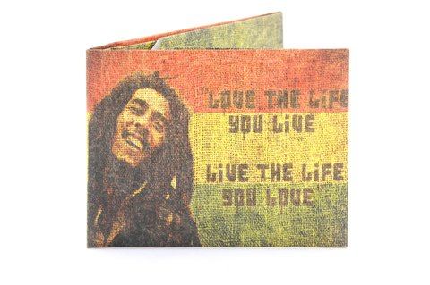 Carteira de papel Tyvek® - by Monkey Wallets® - Bob Marley - comprar online