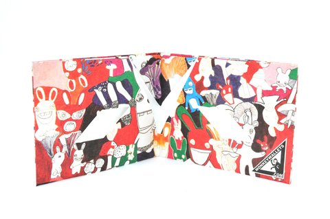 Tyvek® Wallet - by Monkey Wallets® - Rabbits on internet