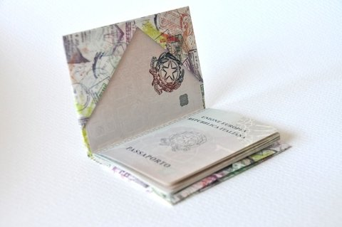 Passport Cover - Stamps on internet