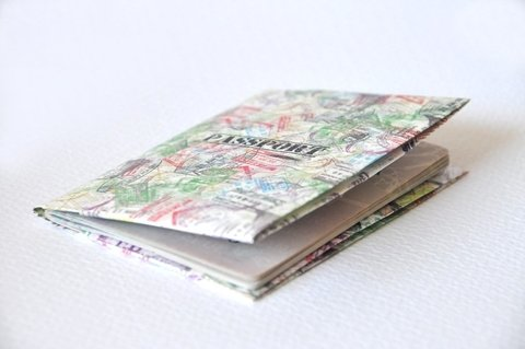 Capa Pasaporte - Sellos - Monkey Wallets ®