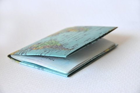 Passport Case - Map - Monkey Wallets ®