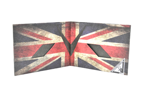 Tyvek® Wallet - by Monkey Wallets® - Union Jack on internet