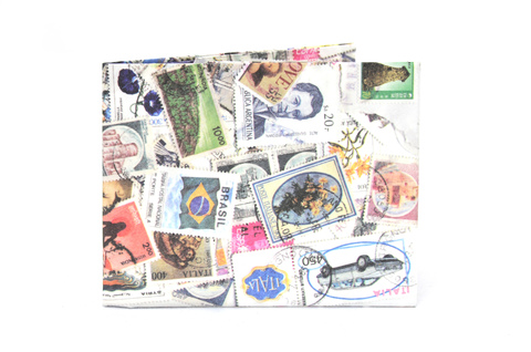 Tyvek® Wallet - by Monkey Wallets® - Stamps