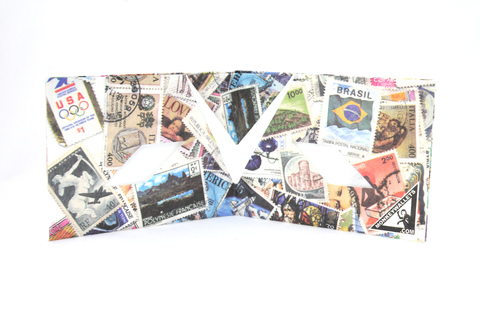 Tyvek® Wallet - by Monkey Wallets® - Stamps on internet