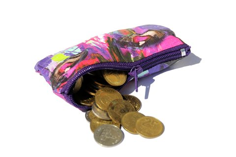Purse for Coins by Monkey Wallets® - Kiss - buy online